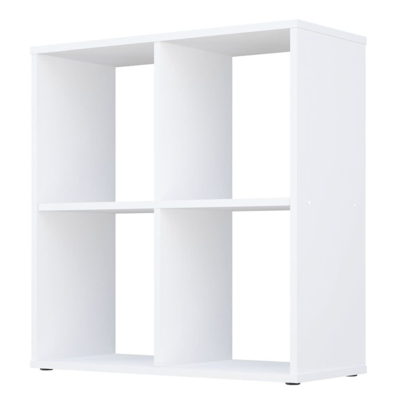 Kudl Home, Smart 4 Cubic Section Shelving Unit - White2