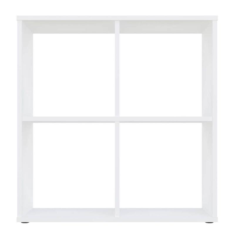 Kudl Home, Smart 4 Cubic Section ShelKudl Home, Smart 4 Cubic Section Shelving Unit - White3ving Unit - White3