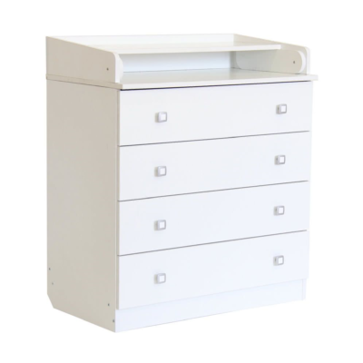 Kudl Kids, 4 Drawer Unit 1580 With Changing Board and Storage - White
