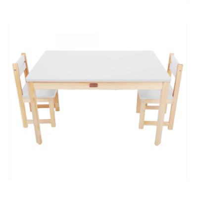 LITTLE BOSS RECTANGULAR TABLE & CHAIRS – WHITE