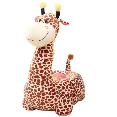 Liberty House Toys – Plush Giraffe Sofa Riding Chair (Brown)