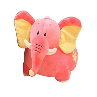 Plush Elephant Sofa Riding Chair pink