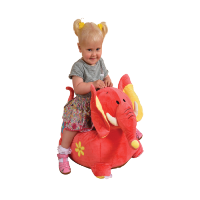 Plush Elephant Sofa Riding Chair pink1