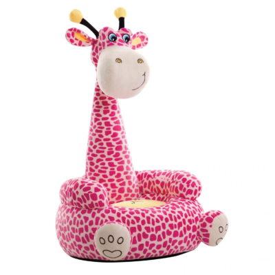 Plush Giraffe Sofa Sitting Chair Pink