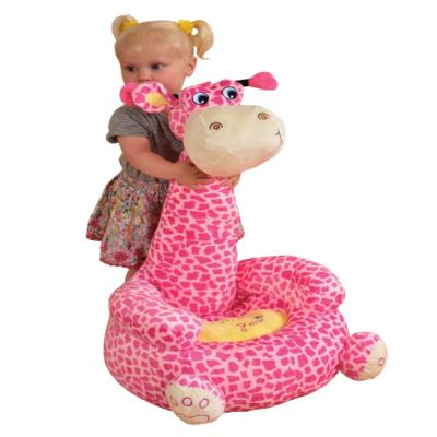 Plush Giraffe Sofa Sitting Chair Pink1