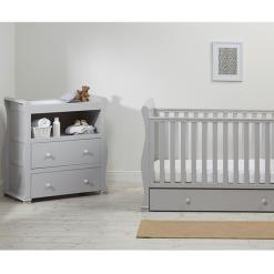 East Coast alaska grey cot bed with dresser