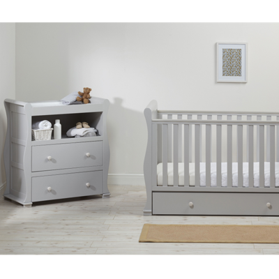East Coast alaska grey cot bed with dresser