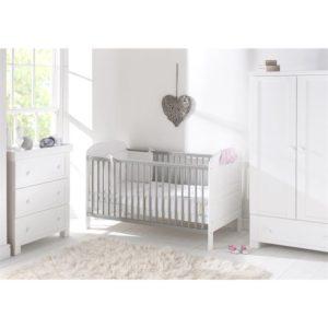 East Coast Angelina 3 Piece Nursery Room Set White Grey