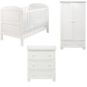 east coast angelina white 3 piece nursery room set