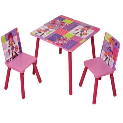 fashion girl table and chairs