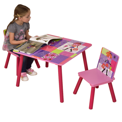 fashion girl table and chairs2