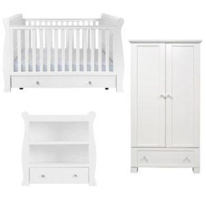 kensington sleigh 3 piece nursery room set