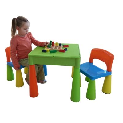 liberty house toys 5 in 1 multipurpose activity table and 2 chairs multicoloured