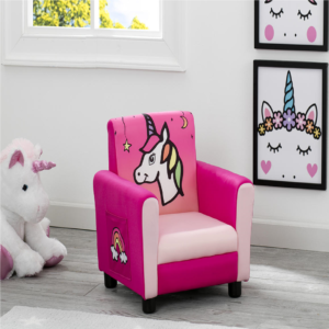 rainbow unicorn upholstered chair
