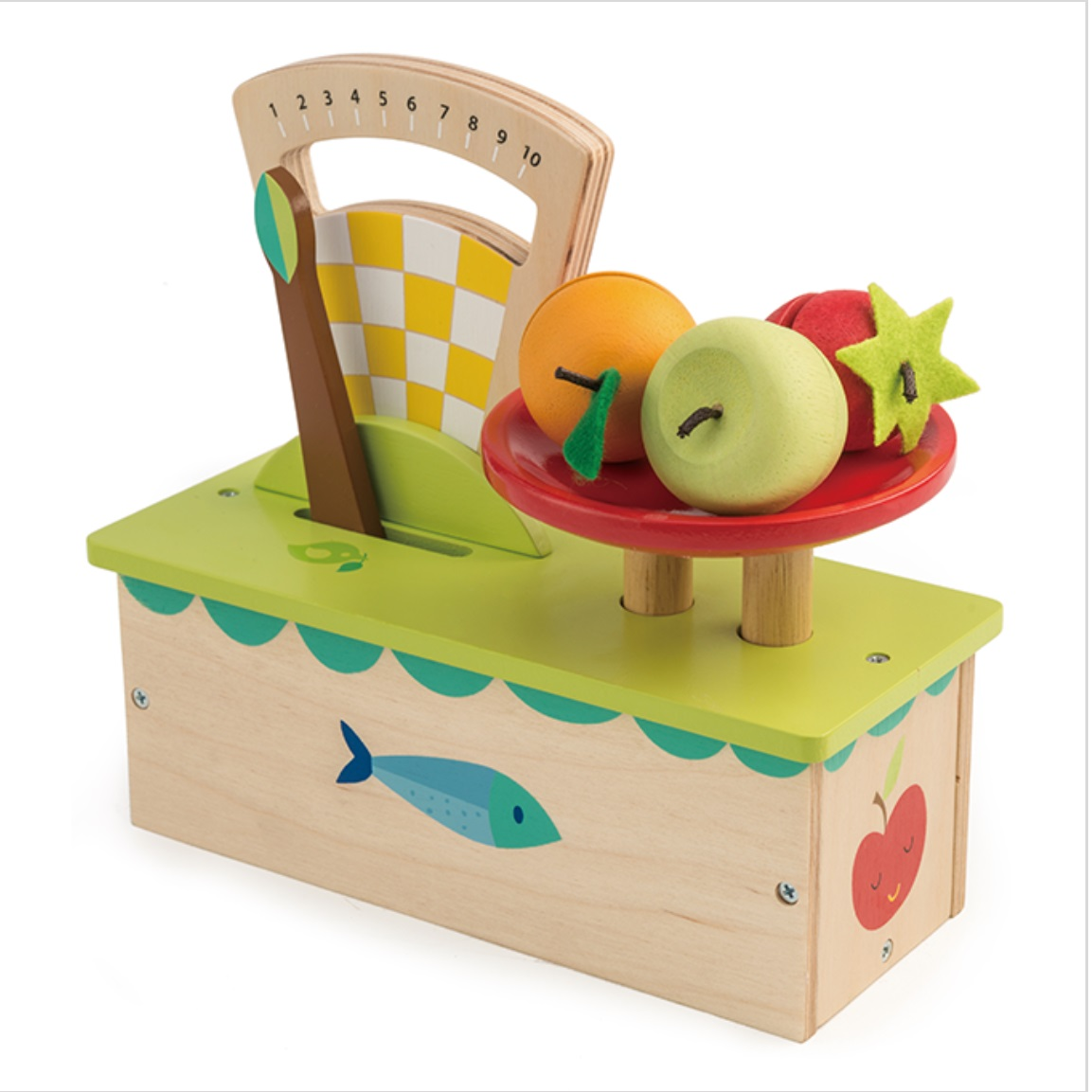 Tender Leaf Toys Wooden Scales With Fruit Smart Kid Store