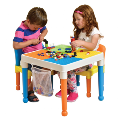 Liberty House Toys - Multipurpose Activity Table & 2 Chairs with storage bag