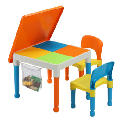 Liberty House Toys Multipurpose Activity Tabletivity Table & 2 Chairs with storage bag