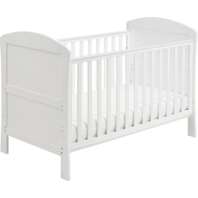Babymore aston dropside cot bed in white