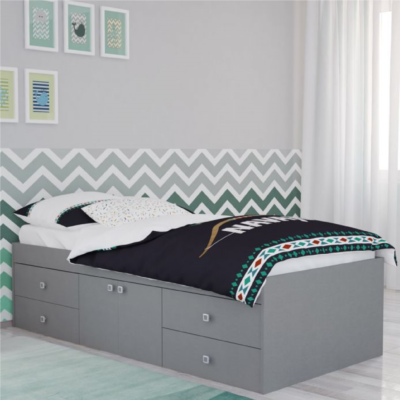 Kidsaw Captains Single 3ft Cabin Bed - Grey1