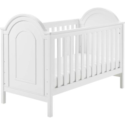 babymore albert cot bed convertible in white