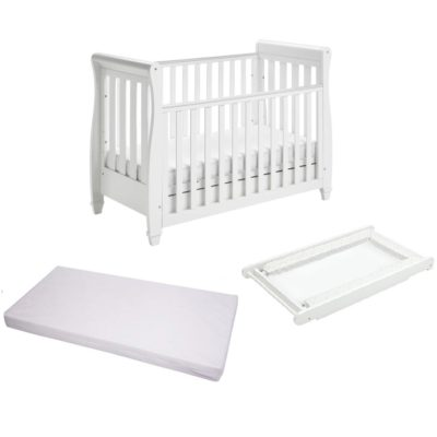 babymore eva cot bed cot top changer mattress white