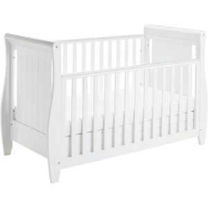 babymore sleigh dropside cot bed stella
