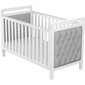 babymore deluxe velvet cot bed