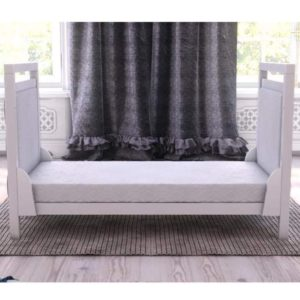 babymore deluxe velvet cot bed junior bed