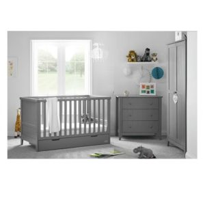 obaby belton 2 piece nursery room set no cot top changer 400