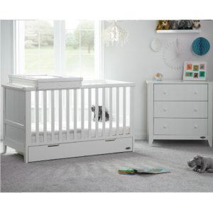 obaby belton 2 piece nursery room set with cot top changer