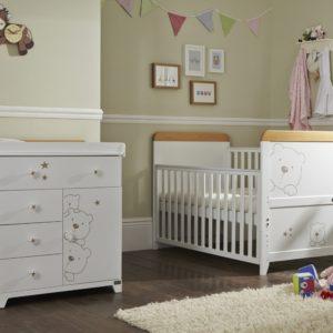 tutti bambini 3 bears 2 piece nursery room set
