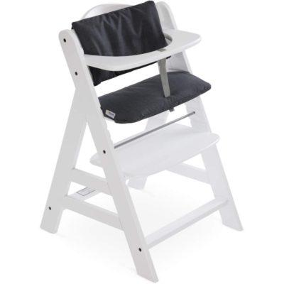 Hauck Alpha Highchair Pad Deluxe Melange Charcoal