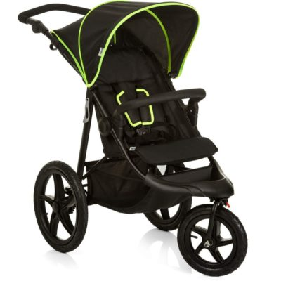 Hauck Runner Pushchair Black Neon Yellow