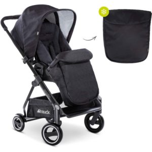 Hauck apollo 3 in 1 travel system caviar and footmuff