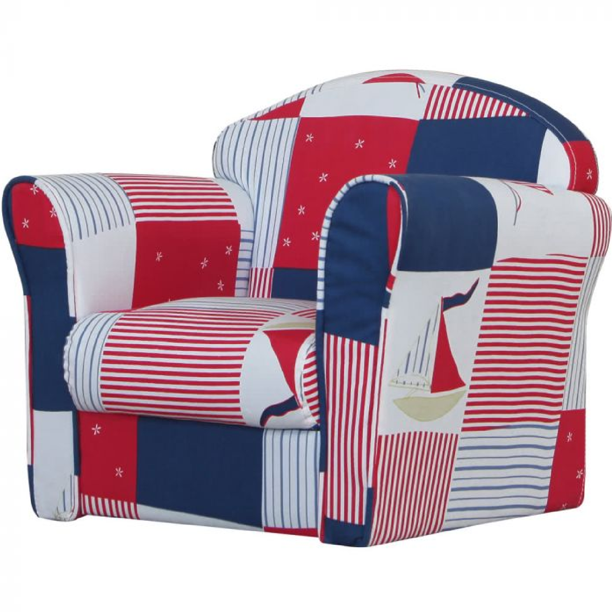 Kidsaw Blue Patchwork Mini Armchair – Smart Kid Store