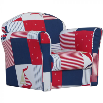 Kidsaw, Mini Armchair Blue Patchwork2