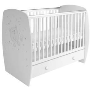 Kudl Kids, Baby Cot French 710 Teddy Print White