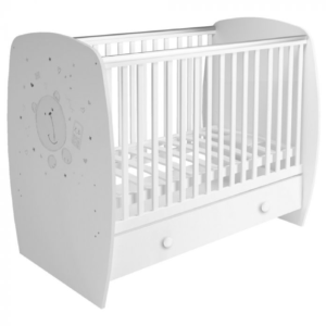 Kudl Kids, Baby Cot French 710 Teddy Print White1