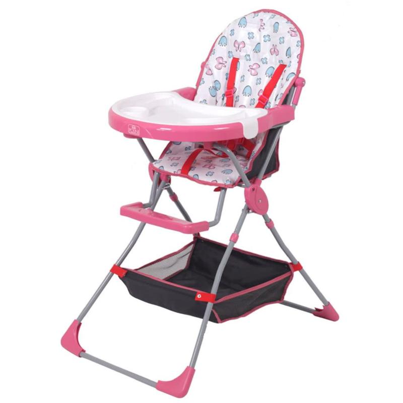 Kudl Kids, Highchair with Storage Basket 252 - Pink