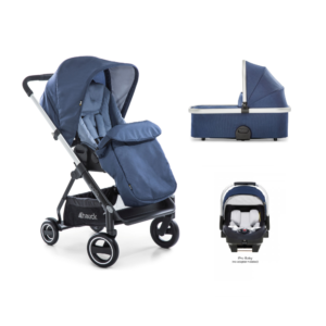 Hauck Apollo 3 in 1 Travel System Bundle - Denim/Denim