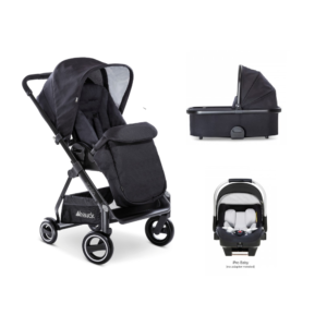 Hauck Apollo 3 in 1 Travel System Bundle - Black Caviar