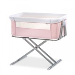 Hauck Face to Me Bedside Cot - Pink