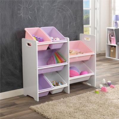 kidkraft 7 Bin Toy Storage Unit - White