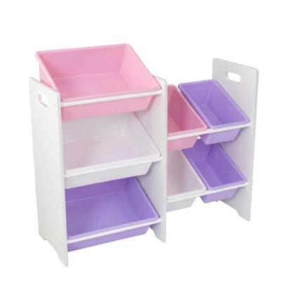 kidkraft 7 Bin Toy Storage Unit - White1