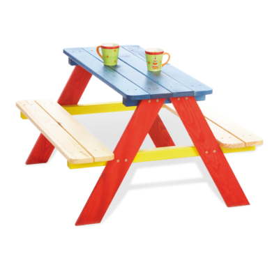 Pinolino Nicki Picnic Table for 4 - Multicoloured