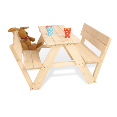 Pinolino Nicki Picnic Table for 4 with Backrest