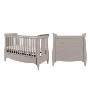 tutti bambini roma 2 piece nursery room set truffle grey
