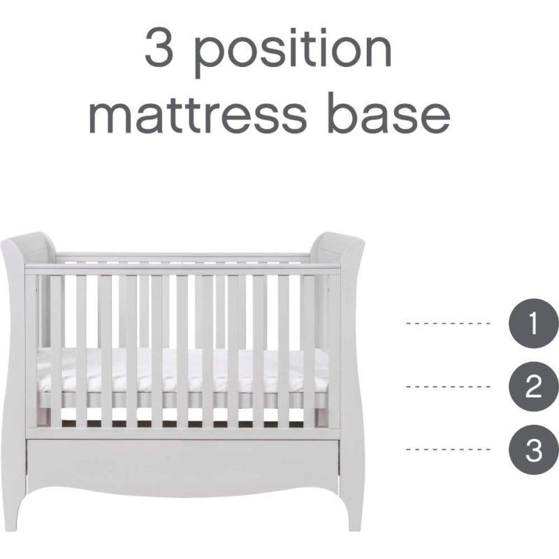 Pleasant Tutti Bambini Roma 2 Piece Mini Nursery Room Set Mattress Accessories Dove Grey Creativecarmelina Interior Chair Design Creativecarmelinacom