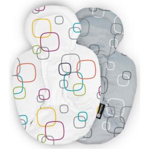 4moms mamaRoo Newborn Plush Insert (White & Grey)