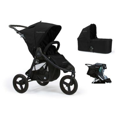 Bumbleride Indie 2 in 1 Matte Black (Stroller Carrycot Raincover)